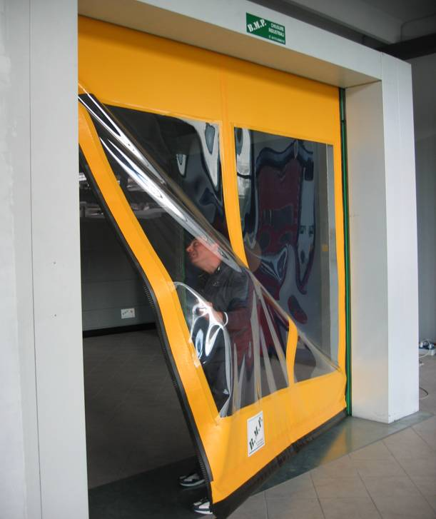 puerta rápida de lona autorreparable dynamicroll
