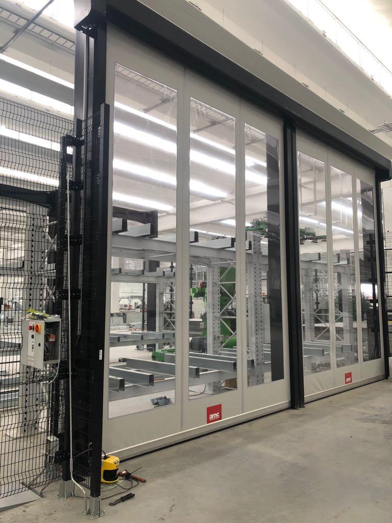 puerta para protección de maquinaria