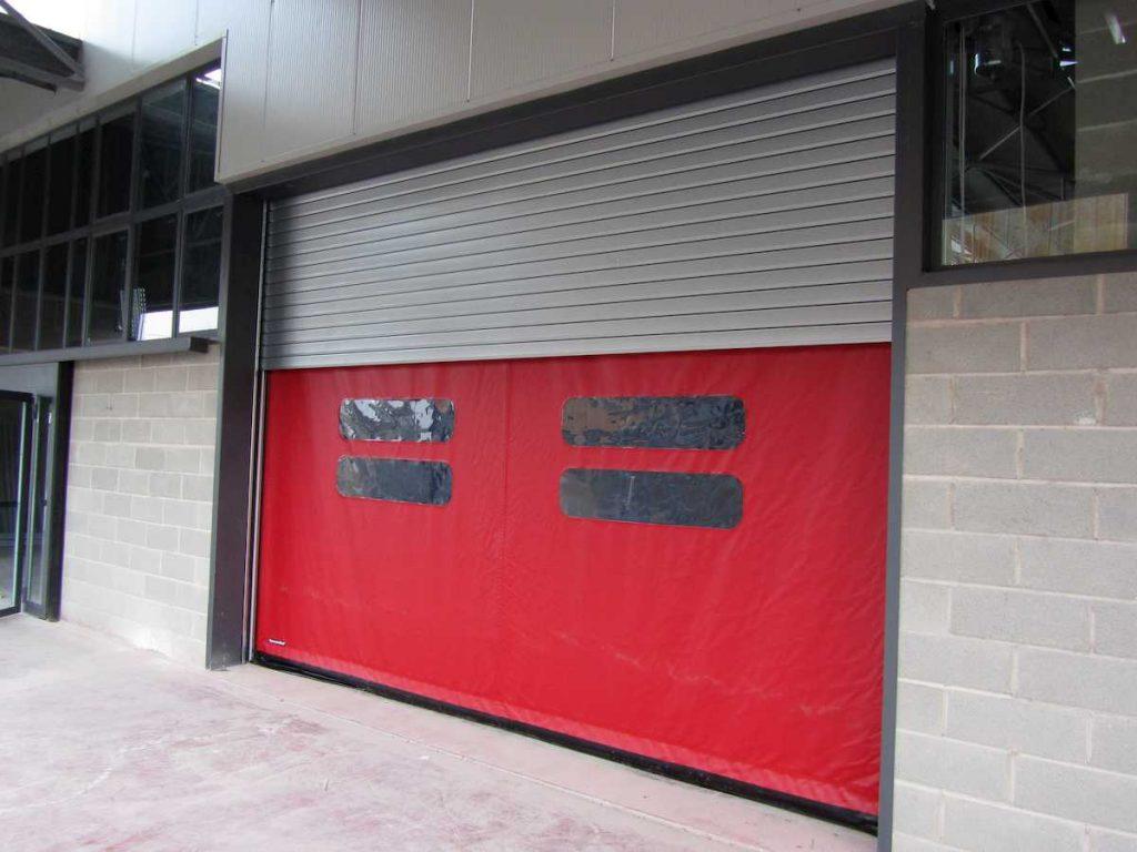 Puerta rápida automática doble, para exteriores